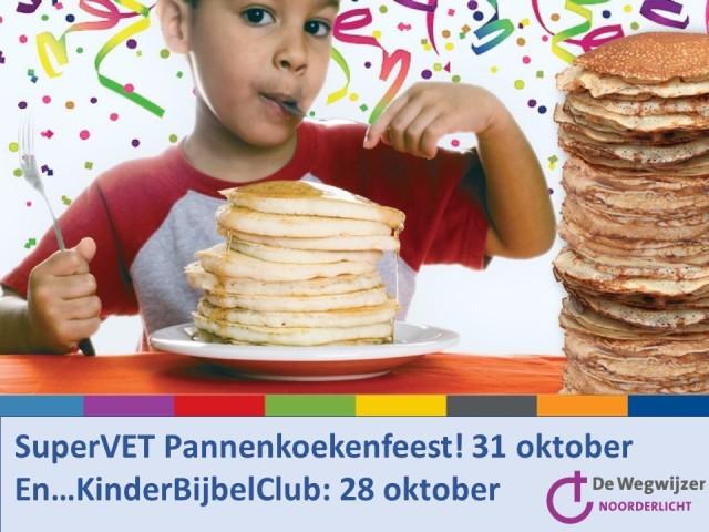 Pannenkoekfeest 28 oktober