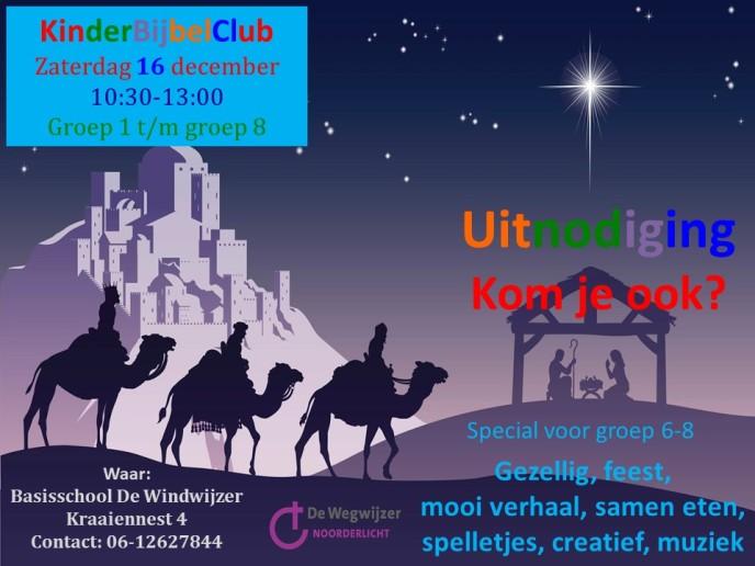 Uitnodiging kbc 16 december kerst